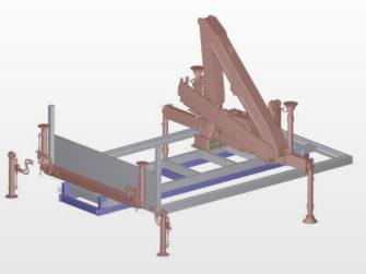Kranaufbau mit Wechselbrücke